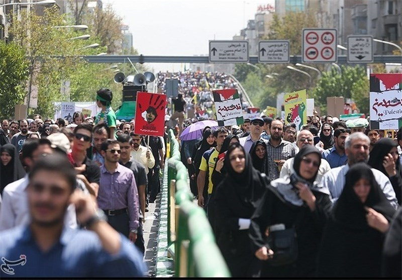 Iranians once again stress support for Palestinian Resistance on Quds Day rally