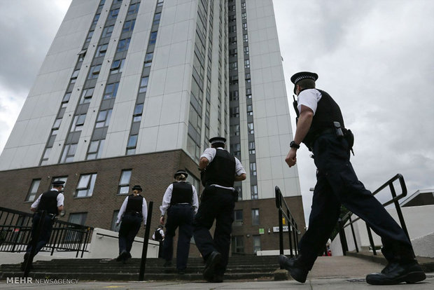 Evacuating unsafe towers in London