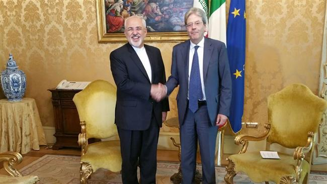 Iranian foreign minister meets senior Italian officials in Rome