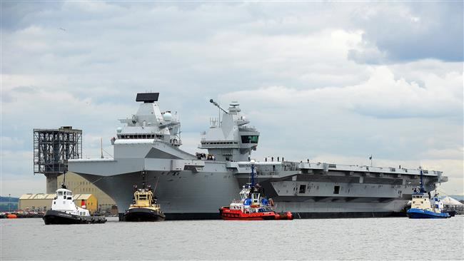Russia calls new British carrier 'convenient target'