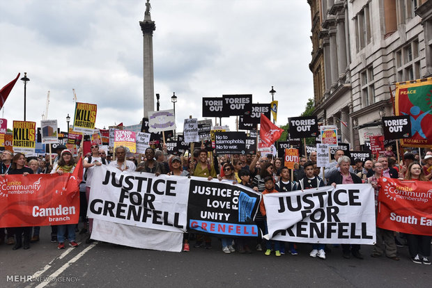 Anti-government protest in London