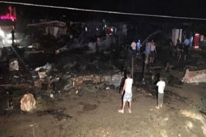 Huge fire at Syrian refugee camp in Lebanon's Bekaa Valley kills girl