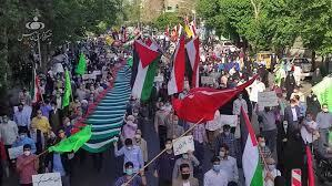 Iranian people join students to slam Israel's vicious onslaught against Gazans