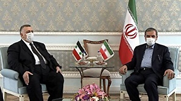 Joint meeting of Syrian parliament speaker with our secretary of the Expediency Council