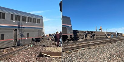 A train derailed in Montana, USA, with three dead and dozens injured